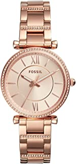 Fossil Casual Analog Rose Gold Dial Rose Gold Stainless Steel Watch for Women - ES4301