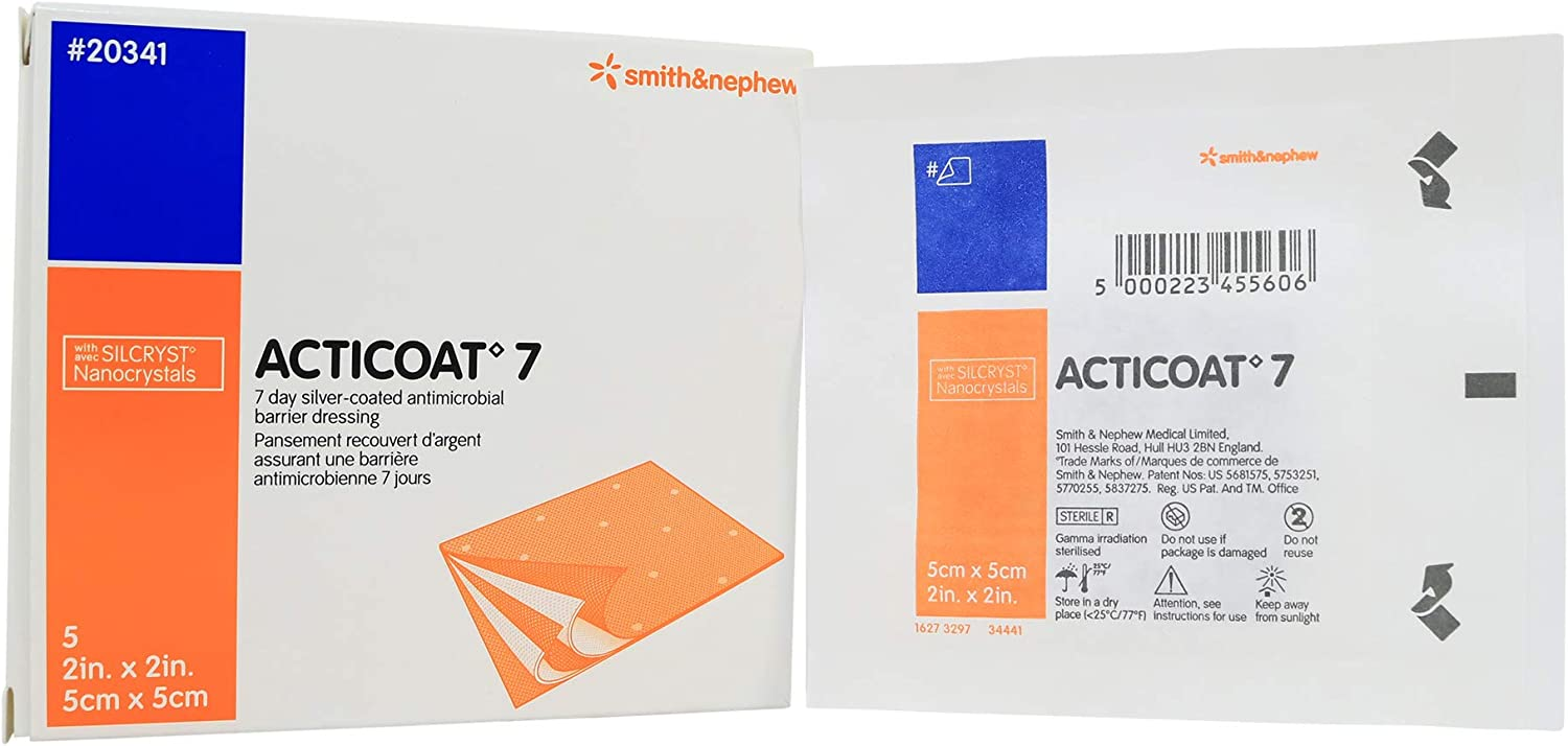 Acticoat Seven Day Antimicrobial Barrier X 2