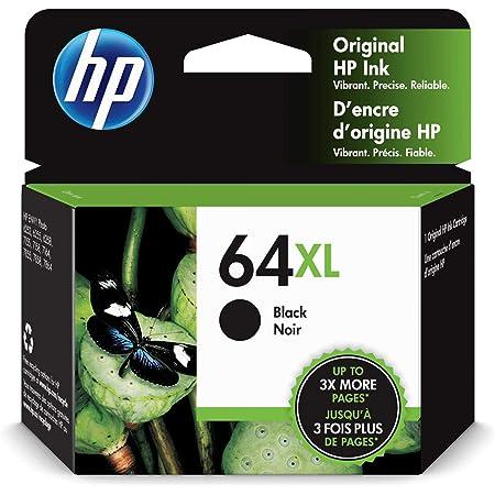 HP 64XL   Ink Cartridge   Black   Works with HP ENVY Photo 6200 Series, 7100 Series, 7800 Series, HP Tango and HP Tango X   N9J92AN