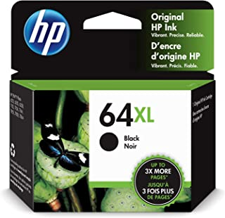 HP 64XL | Ink Cartridge | Works with HP ENVY Photo 6200 Series, 7100 Series, 7800 Series, HP Tango and HP Tango X | Black ...