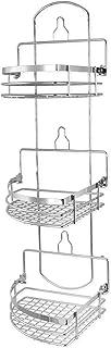 Elama Three Rack Shower Caddy with Foldaway Shelves