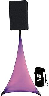 Amazin Gear SKRIMS Tripod Speaker Stand Stretch Cover - Triple Sided DJ Scrim - White Spandex DJ Skirt +FREE Bag - 3-Sides Ideal For Glow Effect (SKRIMS-3W)