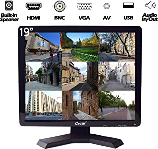 """19"""" CCTV Monitor with VGA HDMI AV BNC Audio In/Out Ports 4:3 Built-in Speaker (LED Backlight) LCD Display Screen with USB ..."""