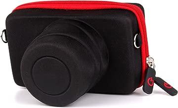 DURAGADGET Executive Black and Red Rigid Protective Case with Elastic Belt Loop Exclusively - Suitable for Panasonic Lumix LX7 / GX1 / LUMIX Digital Camera DMC-TZ60EB