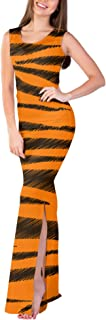Rainbow Rules Tigger Stripes Winnie The Pooh Inspired Fitted Split Maxi Dress