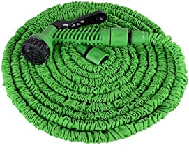 JUZZQ Garden Hose, Lightweight Expandable Water Hose, with Solid Fittings, Double Latex Core, Extra Strength Fabric, Flexible Expanding Hose for Outdoor Lawn Car Watering Plants,75FT