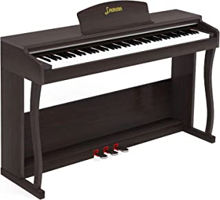 LAGRIMA LAG-650 88 Key Weighted Hammer Action Digital Piano w/Bluetooth & MP3 Function, Remote Control, Headphone/Audio Ou...