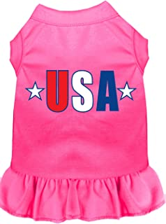Mirage Pet Products 58-41 4XBPK USA Star Screen Print Dress, 4X-Large, Bright Pink