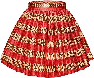 Monique Women African Style Floral Print Short Skirt Parachute Skirt Bubble Skirts
