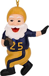 Tree Buddees Touchdown Santa Christmas Sports Football Ornament (Gold & Blue)