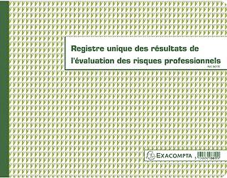 Exacompta 6617E Registre évaluation des risques professionnels 24x32cm 60 feuilles