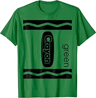 Green Crayon Halloween Couple Friend Group Costume T-shirt