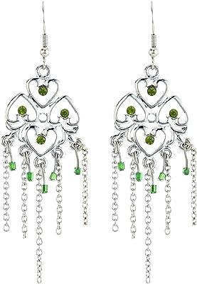 behave donne Fine orecchini chandalier fatto di Base metallica - color argento2-7,8cm dimensione