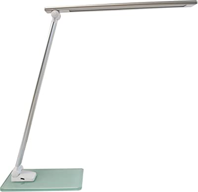 Unilux 400124478 - Lámpara de escritorio (5,5 W, color blanco y gris, metal, 35 x 30 x 11 cm)