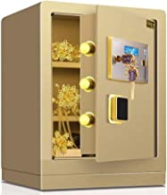 Large Lock Box with Led Display, Solid Steel Construction with Deadbolt Lock Wall-Anchoring Design for Home Hotel Gun Medi...