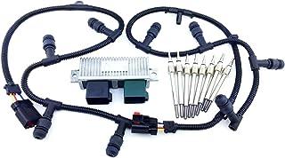 Aftermarket 04-10 F250 F350 F-450 E-350 MODULE GPCM 6.0L DIESEL WIRE HARNESS GLOW PLUGS SET