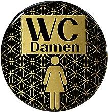 BIKE-label 900107 Gold 3D sticker deurbord WC dames waarschuwingsbord 90 mm