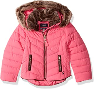 Joules Outerwear Girls 205748 Gosling Quilted Jacket - Pink - 4