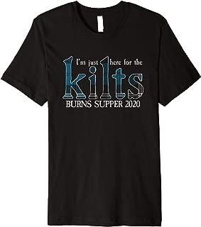 Mens Robert Burns Supper Night 2020 Ramsey Tartan Premium T-Shirt