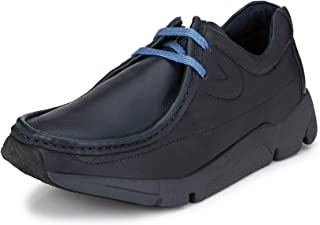 HITZ Blue Casual Leather Shoes for Men