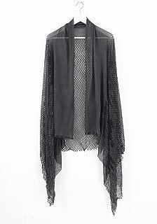 ミハイル ギニス アオヤマ MICHAIL GKINIS AOYAMA 着る ART ストール [登録意匠] 日本製 ハイテク ニット MADE IN TOKYO ギリシャ 大判 コットン Silk シルク Gray