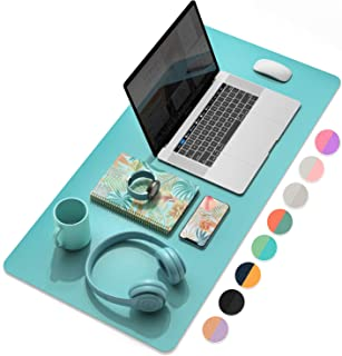 YSAGi Multifunctional Office Desk Pad, Ultra Thin Waterproof PU Leather Mouse Pad, Dual Use Desk Writing Mat for Office/Ho...