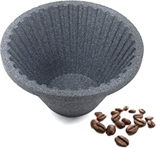 FUMAO Paperless Coffee Filter Pour Over Reusable Cone Dripper Eco-Friendly Pottery Silicon Carbide Remove Impurities Water Clear Smooth Unlock Flavor