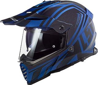 LS2 MX436 Pioneer Evo Master Motocross Helm Schwarz Matt/Blau M 57/58