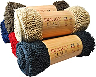 My Doggy Place - Ultra Absorbent Microfiber Dog Door Mat, Durable, Quick Drying, Washable, Prevent Mud Dirt, Keep Your House Clean (Sizes: Medium, Large, X-Large Runner, Hallway Runner, Half Moon)