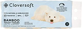 Cloversoft Unbleached Bamboo Toilet Tissues, 2 PLY, 220ct ,(Pack of 10)