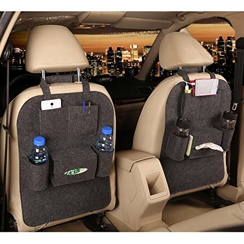 MBaby 1pc Seat Back Car Organizer Woolen Felt Seat Back Kick Protectors for Kids