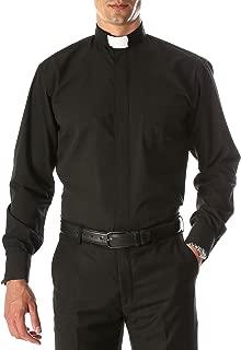 Long Sleeve Mandarin Collar Clergy Priest Cleric Bishop Minister Dress Shirt