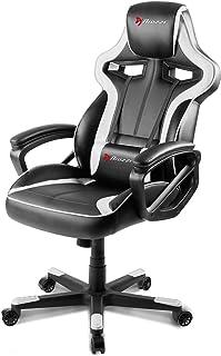 Arozzi - Milano sedia da Gaming, Nero Bianco, 50 x 55 x 130