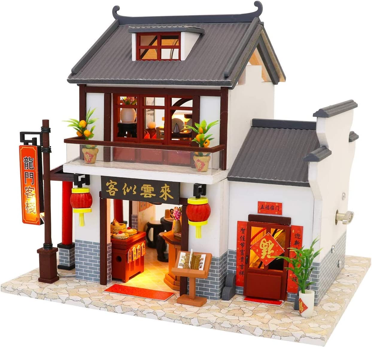 Flever Wooden DIY Fashionable Dollhouse Kit 1:24 Ranking TOP8 Miniature Scale Furni with