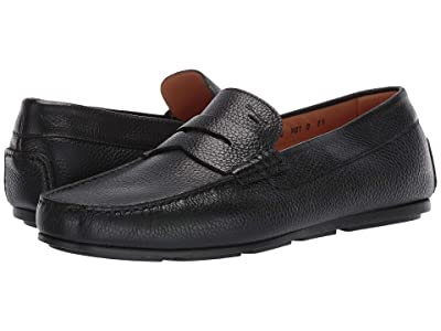 Santoni Tanton Wellington Penny Loafer (Black) Men