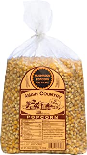 Amish Country Popcorn - Mushroom Kernels (6 Pound Bag) - Old Fashioned, Non GMO, Gluten Free, Microwaveable, Stovetop and Air Popper Friendly - with Recipe Guide