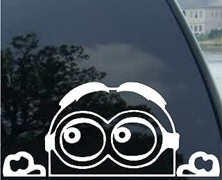 CCI170 Minion Despicable Me Peeking Bird Finger decal sticker for car truck suv van xbox ps4 6 x 4.75 In/…