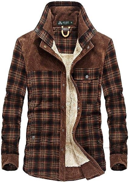 Saoye Fashion Abrigo Hombre Mantener Abrigado Camisa Chaqueta ...