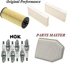 Tune Up Kit Air Cabin Oil Filters Spark Plug FIT JEEP WRANGLER V6; 3.6L 2012-2013