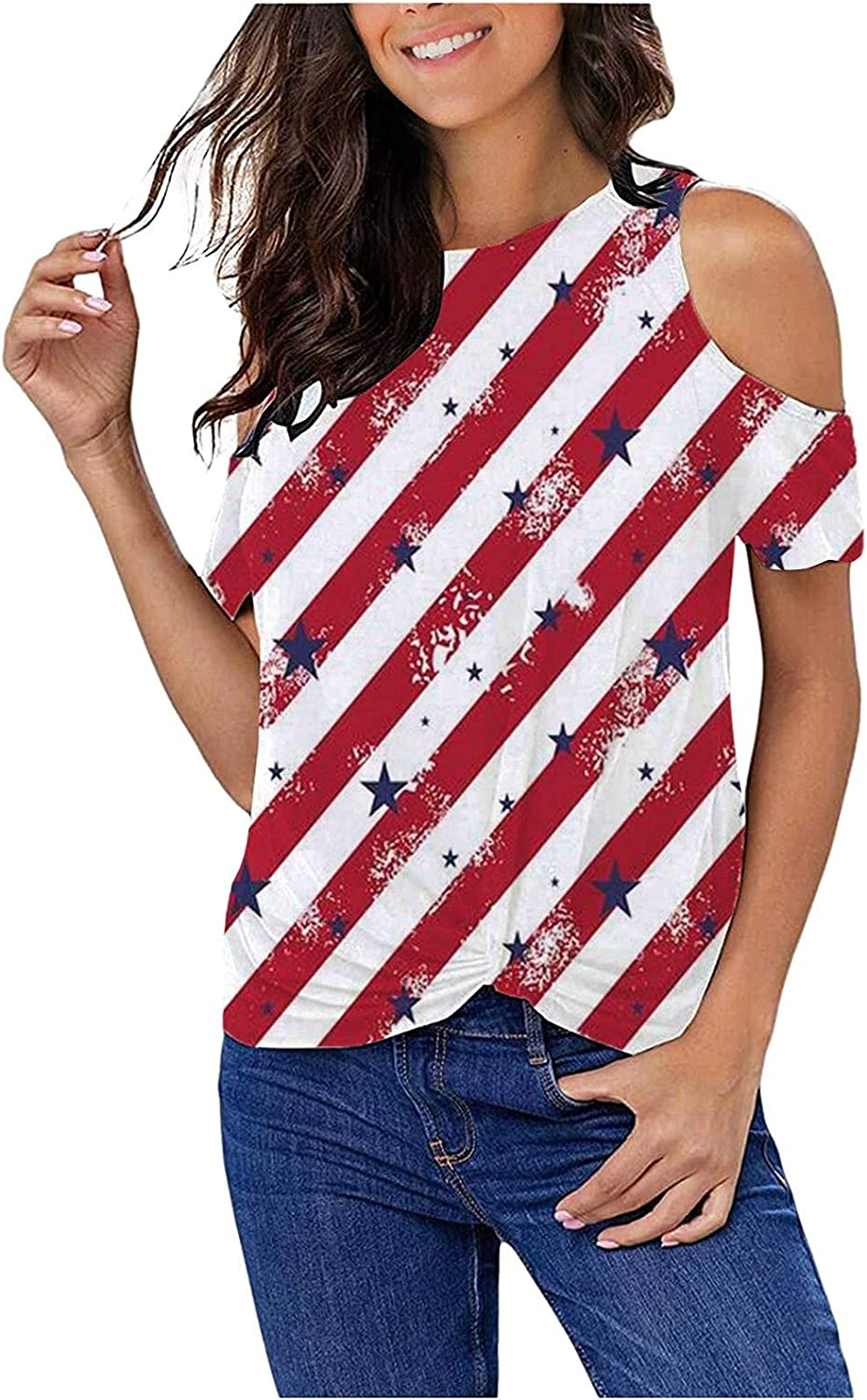 RKSTN Summer Tops Directly managed store for Women Max 76% OFF Shoulder Casua Cold Strappy T-Shirt