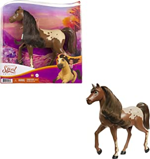 Mattel Spirit Untamed Herd Horse (Approx. 8-in), Moving Head,Chestnut Pinto with Long Black Mane& Playful Stance, Great ...