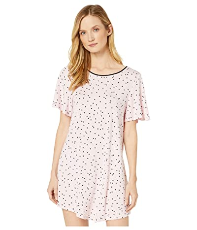 Kate Spade New York Evergreen Modal Jersey Short Sleeve Sleepshirt (Scattered Dot Pink) Women