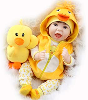 Best Aori Lifelike Realistic Reborn Baby Dolls 22 Inch Weighted Reborn Girl Doll with Yellow Clothes and Duck Toy Accessories Best Birthday Set for Girls Age 3 Review