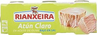 Rianxeira Conserva de atún claro en aceite de oliva bajo en sal - 18 latas de 80 gr. (Total: 1440 gr.)