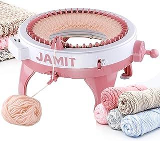 Machine à tricoter, machine à tricoter intelligente à 48 aiguilles avec compteur de rangées, grand kit de métier à tricote...