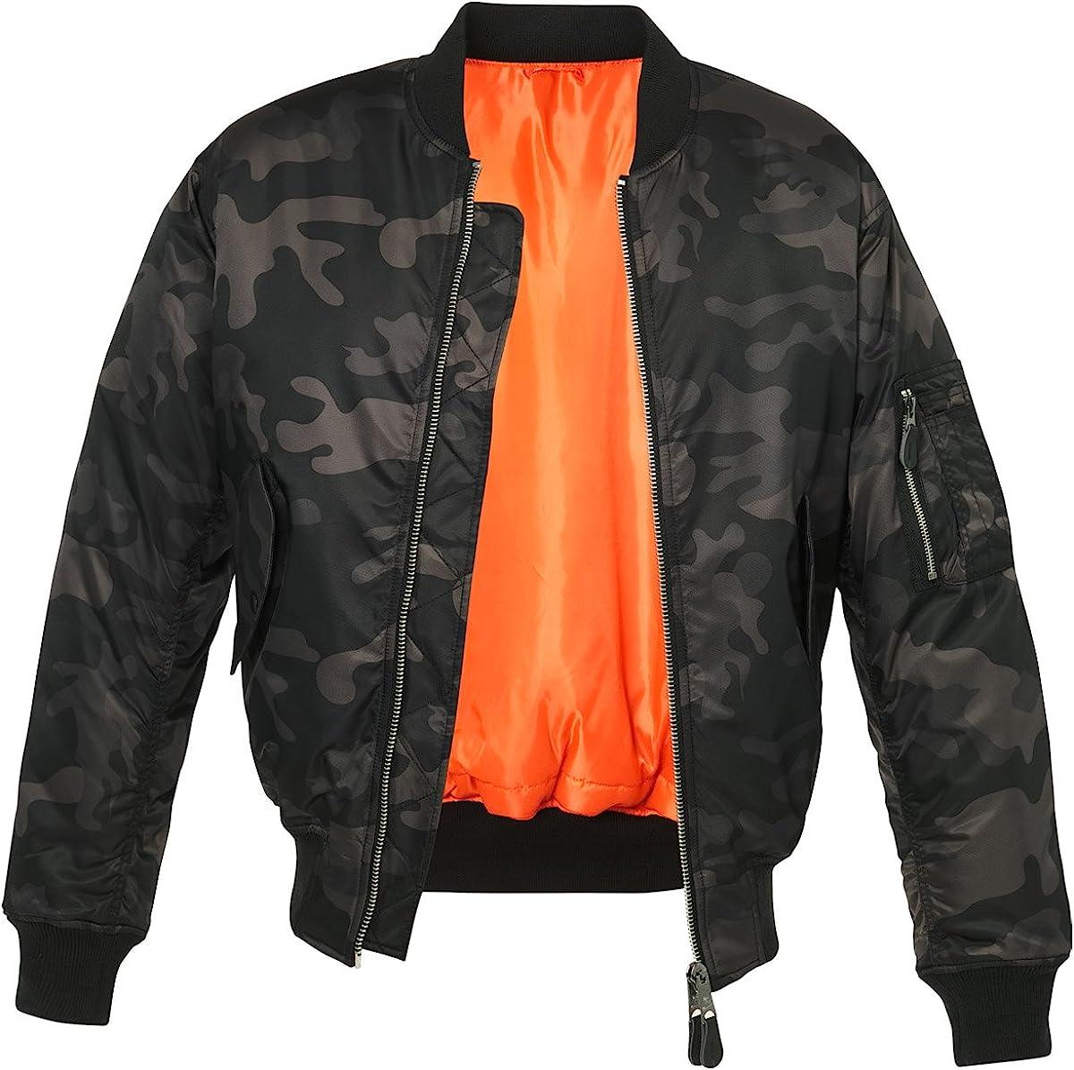 Brandit Men's MA1 Dark 迅速な対応で商品をお届け致します Jacket 新作通販 Camo