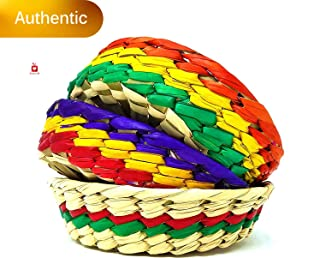 New   Alondra's Imports (TM) Elegantly Handwoven, Mexican Baskets for Party, Tortillas, Candy, Chips and More (Tortilleros para Fiesta, Tortillero Tule De Colores) - Unique Assorted Colors - 3 Pack