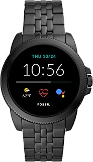 Fossil Gen 5E Men's Smartwatch with Stainless steel band, Full Touch, AMOLED screen, Bluetooth calling, and Built-in GPS -...