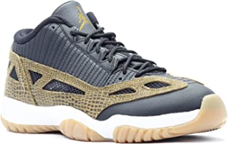Jordan Mens 11 Retro Low Black/Gum Yellow/Infrared 23/Militia GRE 306008-013 11.5