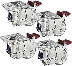 Castor Wheels Trolley Meubels Caster Moving Industrial 5 Inch Gate Spring Shock-absorberende belasting 300kg voor zware ap...